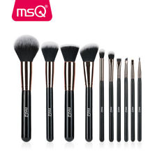 MSQ 10pcs Makeup Brush Set Kabuki Face Powder Eyeshadow Blush Brushes Rose Gold