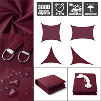 Sun Shade Sail Outdoor Patio Top Canopy Cover 98% Anti-UV Waterproof Wine Red US