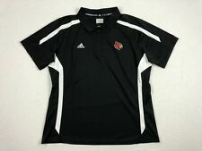 NEW adidas Louisville Cardinals  - Black Clima-lite Polo Shirt (XL)