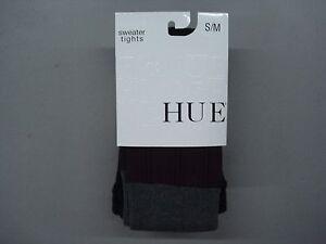 NWT Women's Hue Multi Texture Sweater Tights Size S/M Black Multi #860C