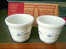 Longaberger 2 Pack Votive Cups #35904 (Classic Blue) New In Box