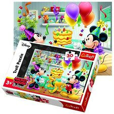 Trefl 30 Piece Kids Unisex Disney Mickey Minnie Mouse Party Jigsaw Puzzle NEW