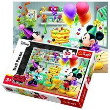 Trefl 30 Piece Kids Unisex Disney Mickey Minnie Mouse Party Jigsaw Puzzle NEW