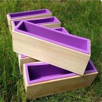Silicone Soap Mould Rectangle Wood Box DIY Toast Loaf Baking Cake Molds Case KV