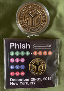Phish 2019 Subway Token AND Pin Limited Edition Of 500 NYC MSG NYE Run SOLD OUT