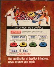 Art Of Fighting 2 Neo Geo Arcade Marquee