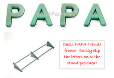 PAPA Funeral Flowers Oasis Frame and Letters Tribute Naylorbase with Stand