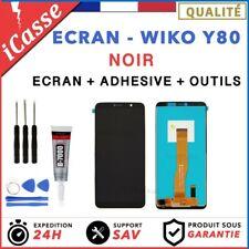 Ecran LCD + Vitre Tactile pour Wiko Y80 Noir + OUTILS + COLLE
