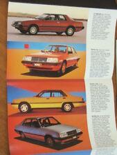 1982 Mitsubishi range original Australian small foldout brochure