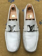LOUIS VUITTON MENS WHITE LEATHER MONTE CARLO LOAFERS SHOES UK 9.5 US 10.5 43.5