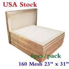 "USA Stock! 6 pcs 23"" x 31"" Aluminum Silk Screen Frame 160 Mesh Screen Printing"