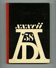 1958 Herb Lubalin + George Lois ADC ADVERTISING ART DESIGN Saul Bass Andy Warhol