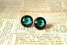 Kiss Me Black / Neon Green Stud Earrings,Morden Fashion