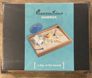 Zen Garden Desktop Beach Hardwood Executive Sandbox Home Office Decor Desk Art