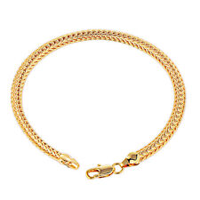 Mens Jewelry Braclet 18K Yellow Solid Gold Plated Authentic Heavy Fashion
