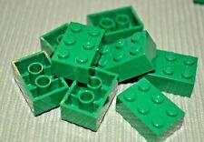 (8) 2x3 Green Standard Bricks ~ Lego  ~ NEW ~ Castle