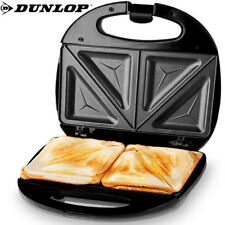 DUNLOP Sandwichtoaster Sandwichmaker Sandwich Tischgrill Edelstahl Elektrogrill