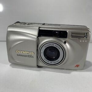 OLYMPUS SUPERZOOM 100G 35mm Film Compact Camera 38-100mm Lens AF Autofocus