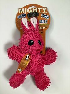 Mighty Dog Toys Pink Micro Fiber Squeaky Rabbit NEW! NWT
