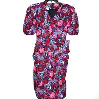 Vintage Albert Nipon Floral 100% Silk Dress