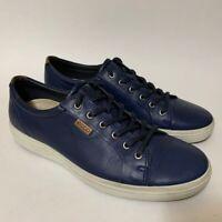 ECCO Mens 11 Sneakers Blue Lace Up Low Top Shoes Cap Toe