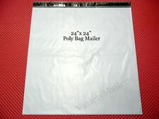 5 Poly Bag Mailers ~ Extra Large 24x24 ~ Self-Sealing Shipping Envelope Bags