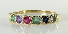 9K 9CT GOLD DEAREST ART DECO INS ETERNITY S BAND STACK WAVE RING FREE RESIZE