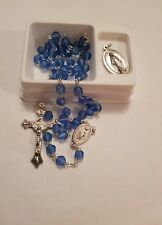 Miraculous Medal Blue Rosary and Medal Set