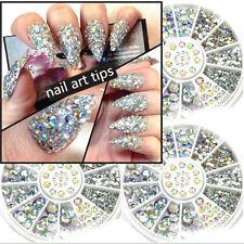 Pro 6cm Nail Art Tips Crystal Glitter Rhinestone 3D Nail Art Decoration