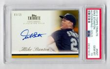 MIKE GIANCARLO STANTON 2012 TOPPS TRIBUTE GOLD ON CARD AUTO 3/15 PSA 10 GEM MINT