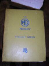 Genuine BMC MG Midget Workshop Manual AKD1775