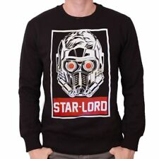 GUARDIANS OF THE GALAXY - STAR LORD OBEY STYLED BLACK CREWNECK SWEATER JUMPER