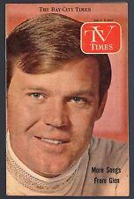 1969 TV TIMES GUIDE~GLEN CAMPBELL~I DREAM OF JIEANNIE~ADAM 12~SHARRON CLARIDGE
