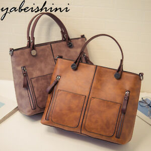 Vintage Lady Handbag Women Shoulder Bag Double Pocket Casual Tote Bag Sac