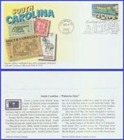 US #3600 U/A MYSTIC FDC   South Carolina Greetings from America