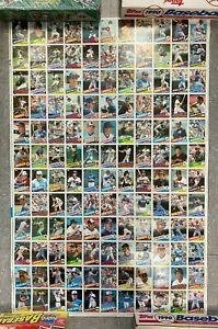 """1985 TOPPS BASEBALL CARDS * PUCKETT BOGGS RIPKEN * 28X33"""" UNCUT CARD SHEET PB25"""