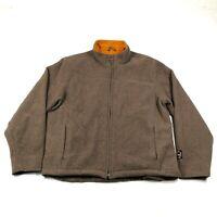 Woolrich Womens M Sweatshirt Jacket Womens M Brown Taupe Wool Full Zip