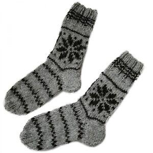 Ladies Wool Socks Hand Knitted Socks From 100% Sheep's Wool 1 Star Model 2