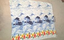 Floral Beach Wraps LOT OF 2 Pink Blue Scarf Cover-up Roundy Bay 52 x 44 Rayon