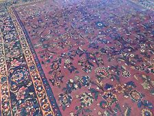 "8x10 Turkish Sparta Area Rug ""Ralph Lauren look"" purple blue Antique Oriental"