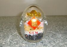Feng Shui = Five Element Crystal Egg with Star David Gold Ingot