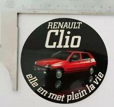 Autocollant / Stickers vintage Clio 1 rouge