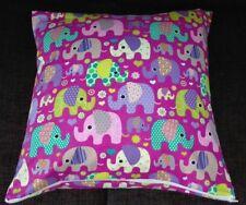 Kissenhülle, Kissenbezug 40x40 cm, Elefanten, pink, Kinderkissen, Handarbeit
