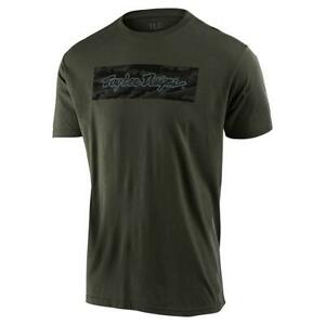Troy Lee Designs 2020 Signature Block Camo Tee Green All Sizes