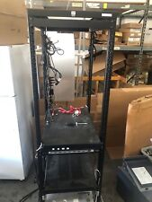 One Pristine Chatsworth 4 post serverrack black to be shipped Disassembled