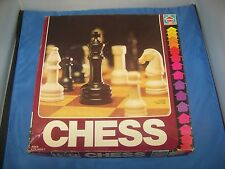 Chess Set Vintage with Box and Board Hasbro 1979 Complete Chess Set Original Box