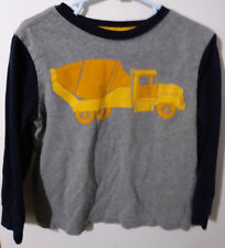 GYMBOREE 3T GRAY & BLUE LONG SLEEVE TOP WITH CEMENT MIXER TRUCK #22C