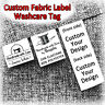 Sew On Clothes Labels Garment Hat Shoe Bag Wash Care Tags Custom LOGO Name Brand