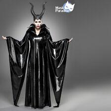 Costume Maleficent Carnevale Strega Malefica Maschera travestimento Halloween