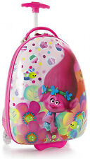 "Heys America Luggage Trolls 18"" Wheeled Carry On Kids Suitcase - Pink"